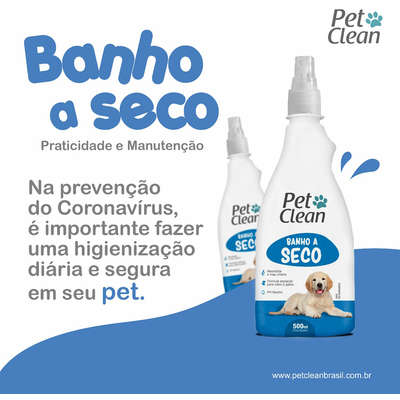 Banho a Seco Pet Clean para Cães