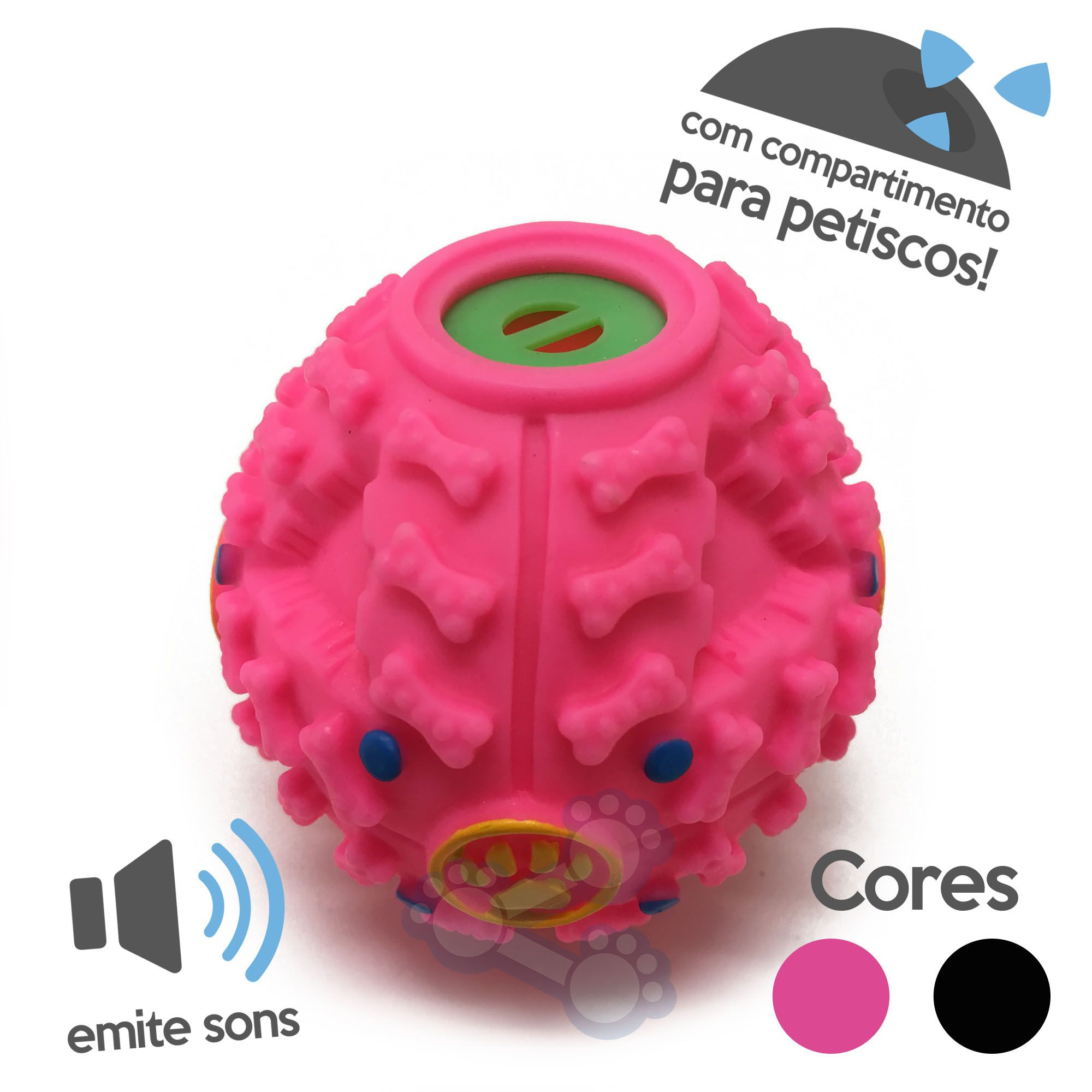 Brinquedo Bola Dog Espacial Petisco com Apito para Cães
