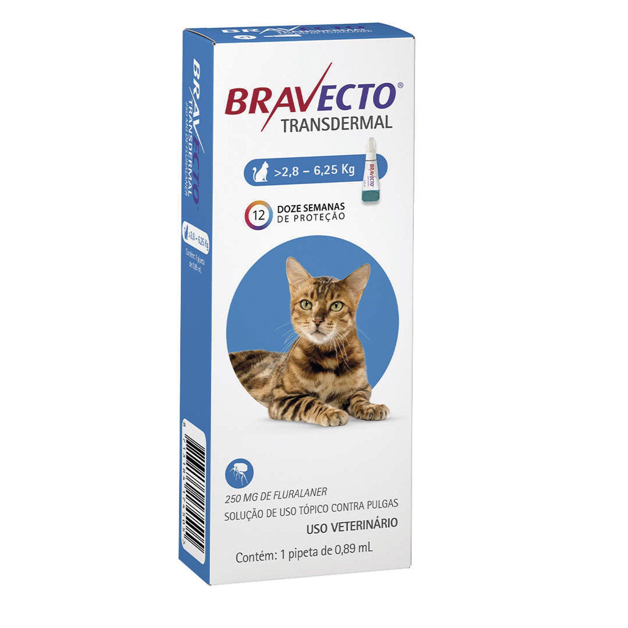 Bravecto Antipulgas Para Gatos de 2,8 a 6,25 kg Transdermal