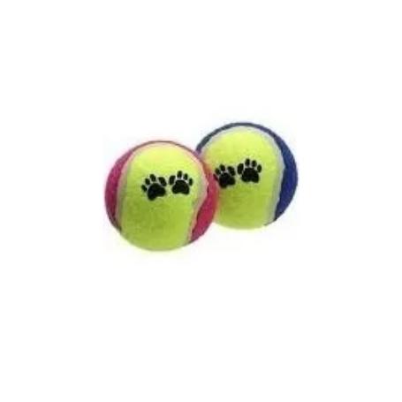 Brinquedo bola de tênis dupla para Cães