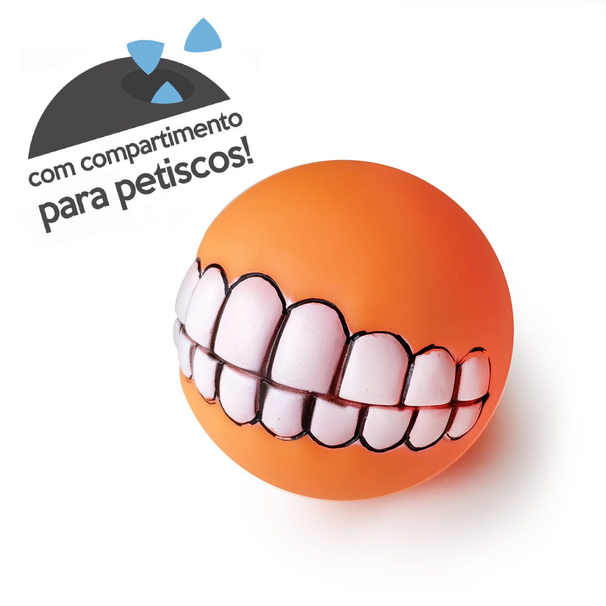 Brinquedo Dog Mordedor Sorriso Porta Ração - Bom Amigo