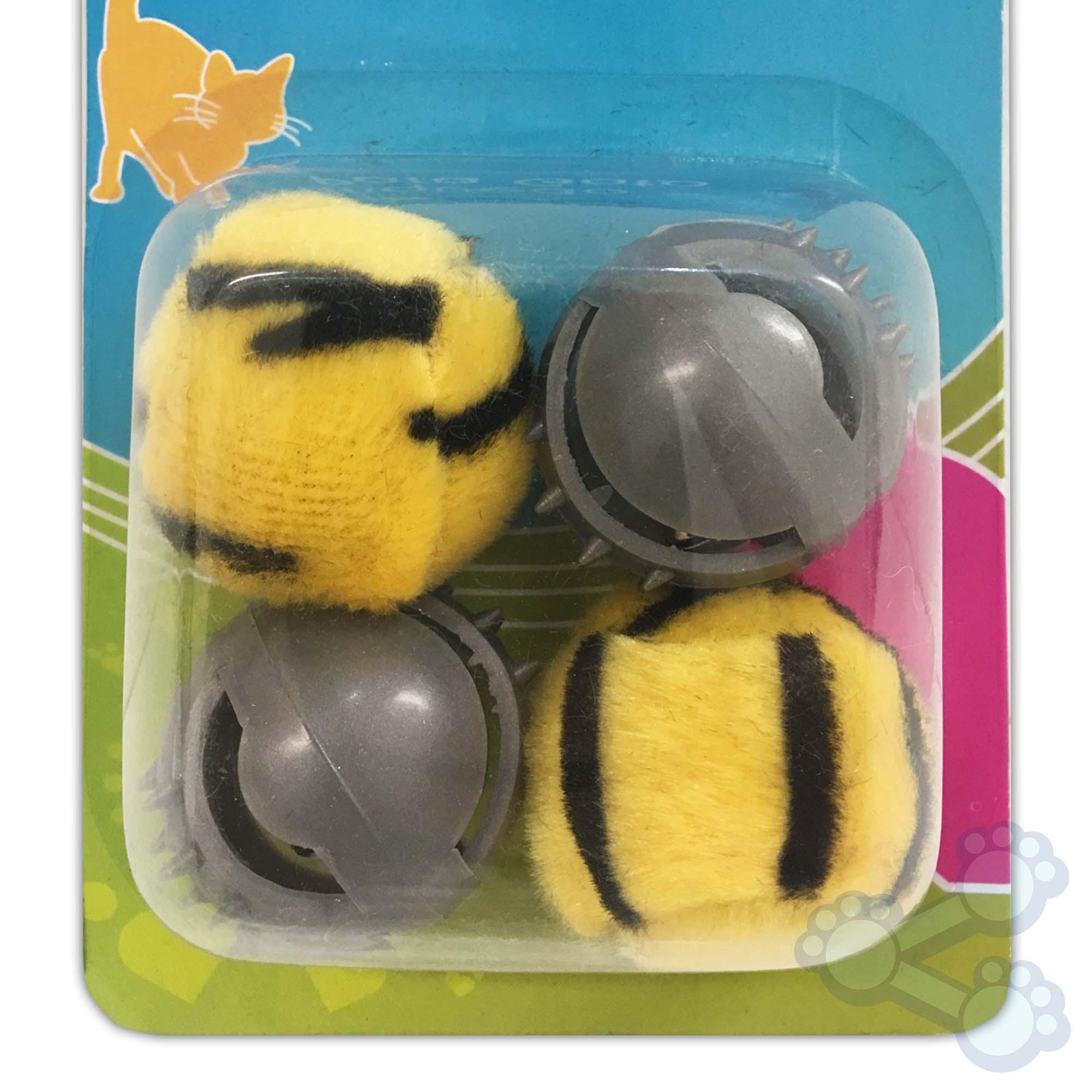 Brinquedo para gatos, Kit com 4 bolinhas com chocalho.