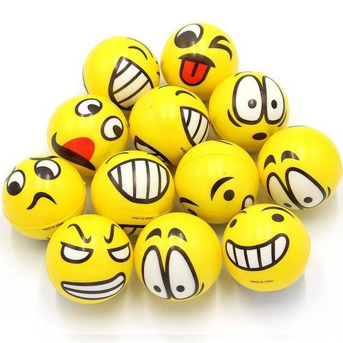 Brinquedo Mordedor Bola Emojis cães e gatos