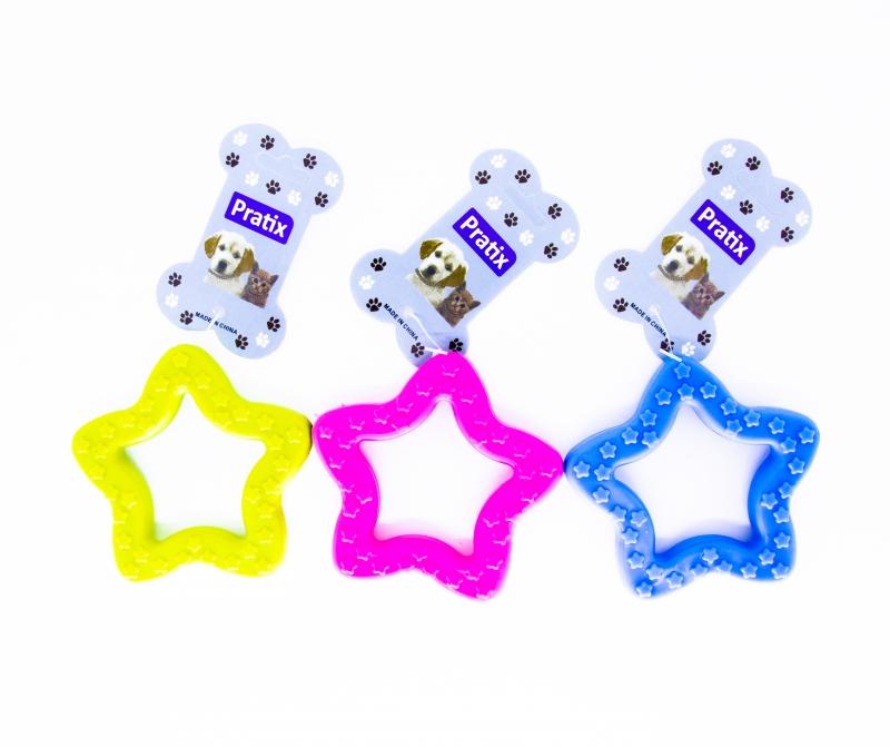 Brinquedo Mordedor de Borracha Estrela Maciça fina Cães 7cm
