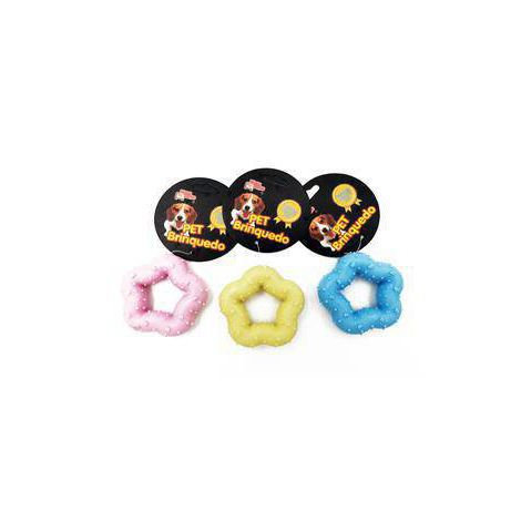 Brinquedo Mordedor de Borracha Estrela Maciça para Cães 7cm