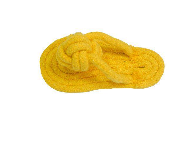 Brinquedo Mordedor de corda forma de chinelo para caes