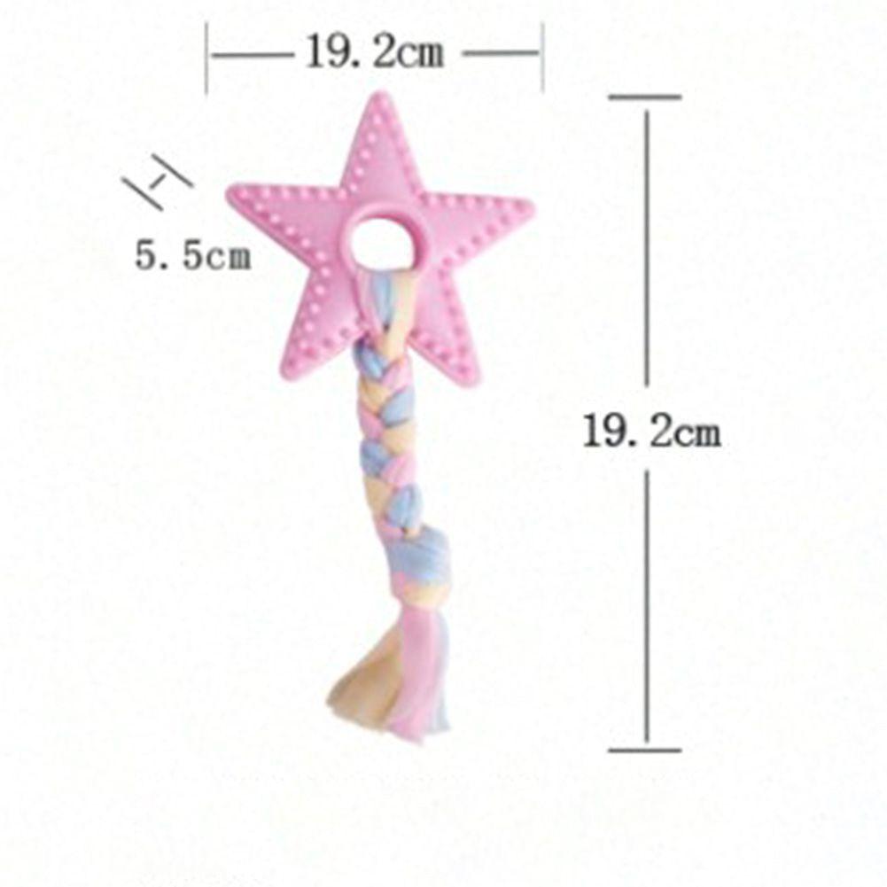 Brinquedo Mordedor para cães - Estrela de Borracha com Pano de Algodão