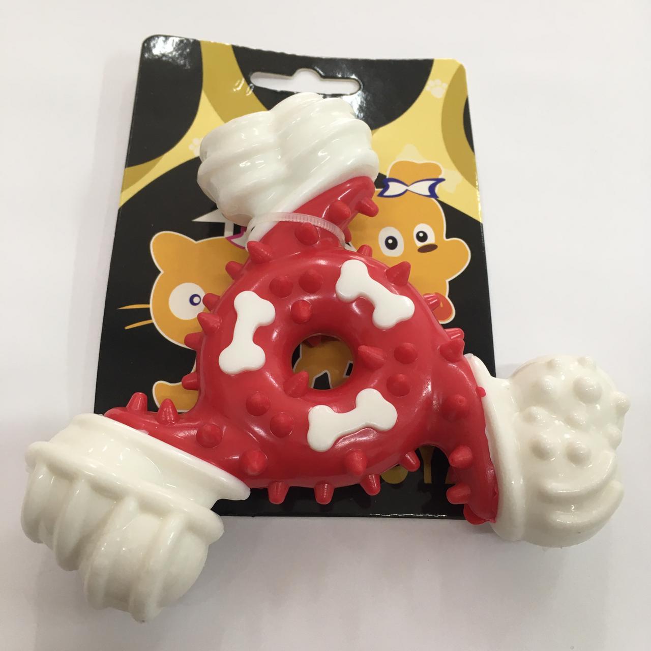 Brinquedo Mordedor Estrela de Nylon Rigido quase indrestutível