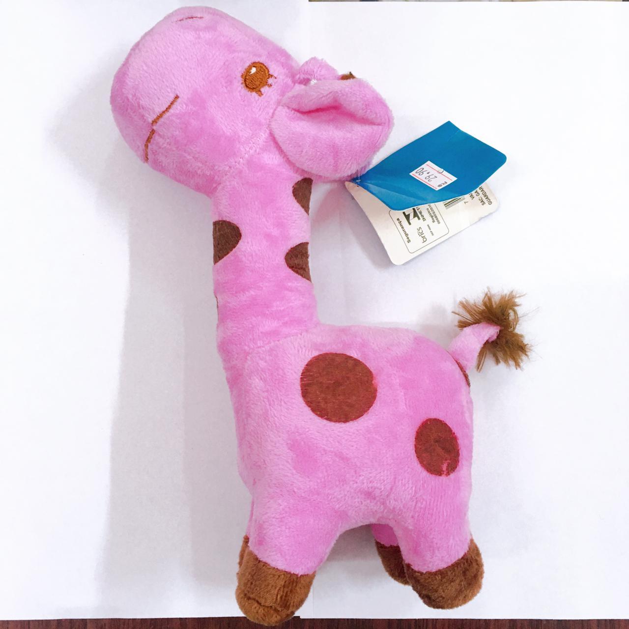 Brinquedo Mordedor Girafa De Pelúcia para cães - 28cm