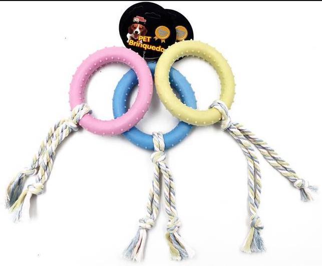 Brinquedo Mordedor para Caes Circulo Corda