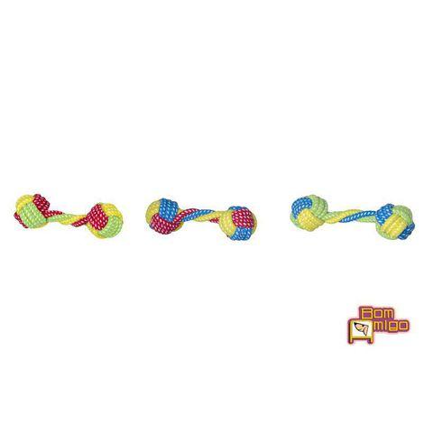 Brinquedo Mordedor para Cães - Corda Duas Bolas