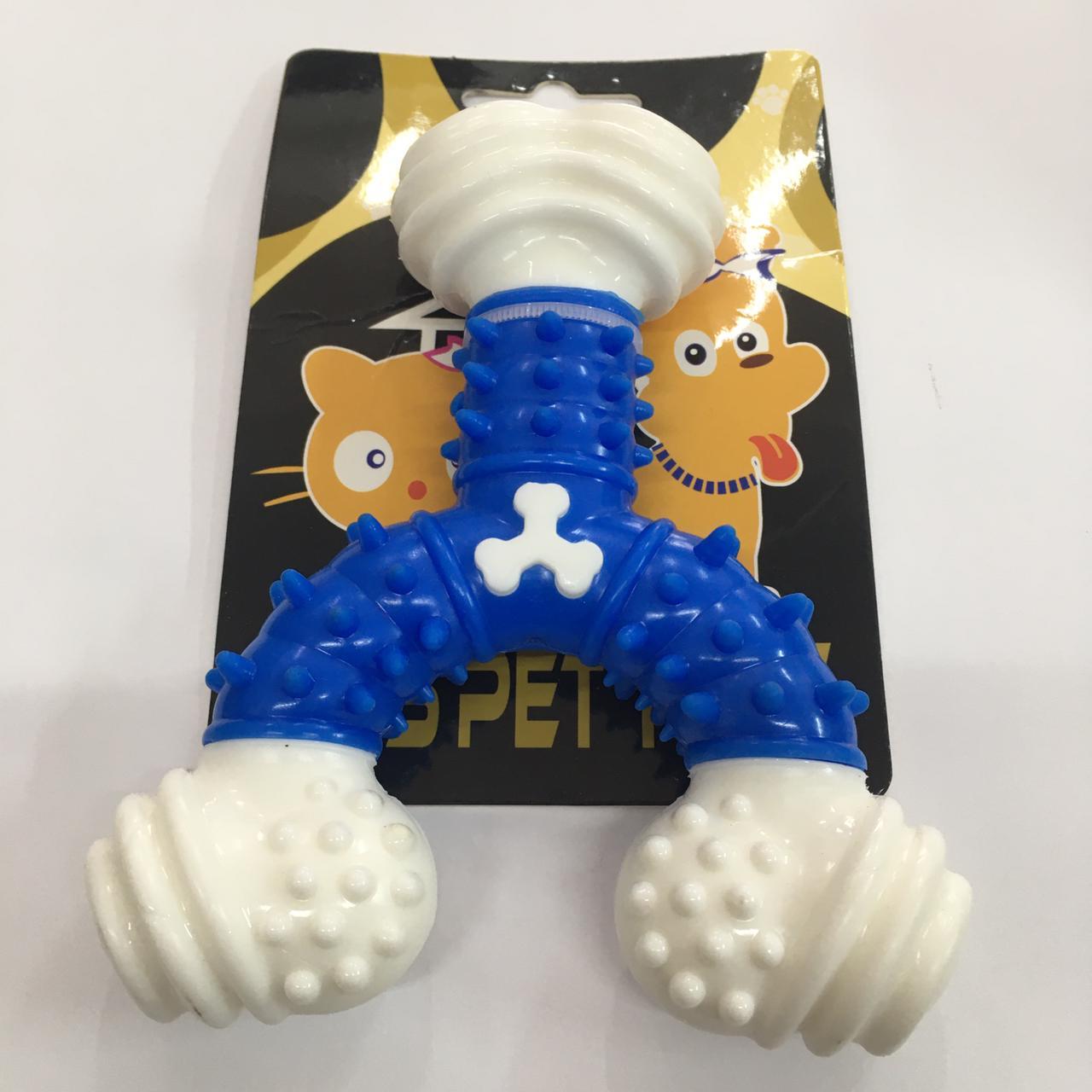 Brinquedo Mordedor Y de Nylon Rigido quase indrestutível