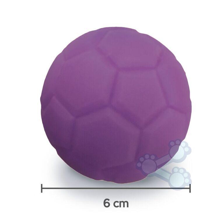 Brinquedo p/ Cães Cachorro Bolinha de Futebol 6cm