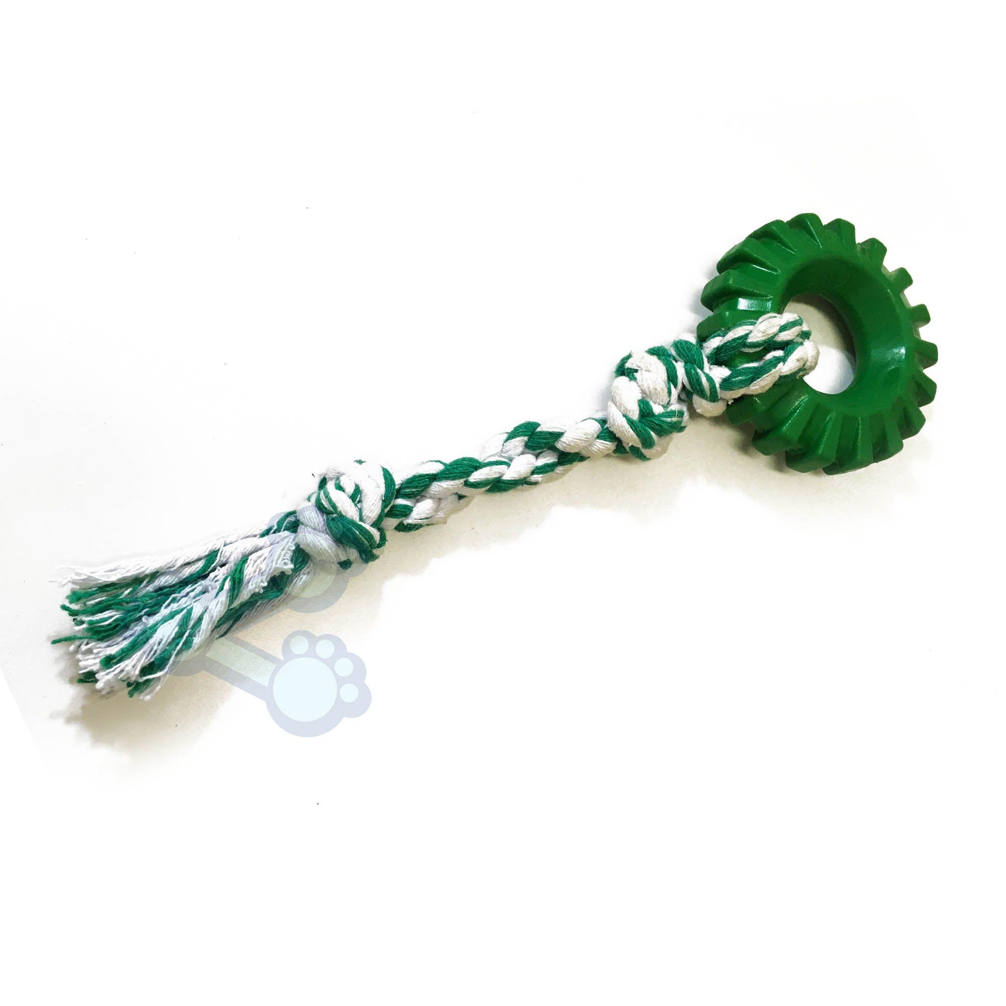 Brinquedo para Cachorro - Mordedor Argola com Corda