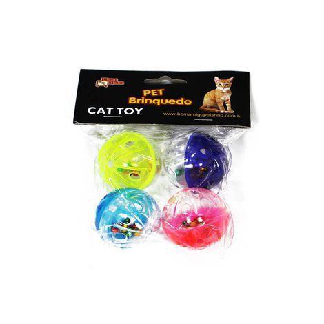 Brinquedo para Gatos - 4 Bolinhas Guizo II