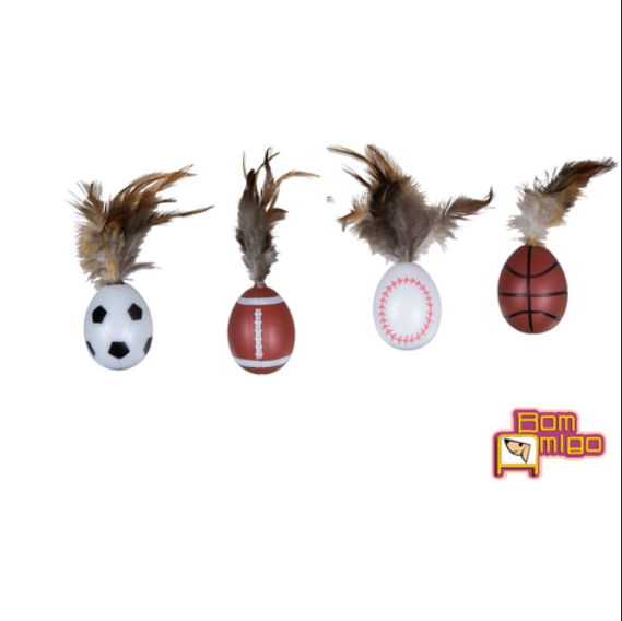 Brinquedo para Gatos - Bolas c/ Penas