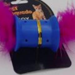 Brinquedo para Gatos - Carretel PomPom c/ Penas