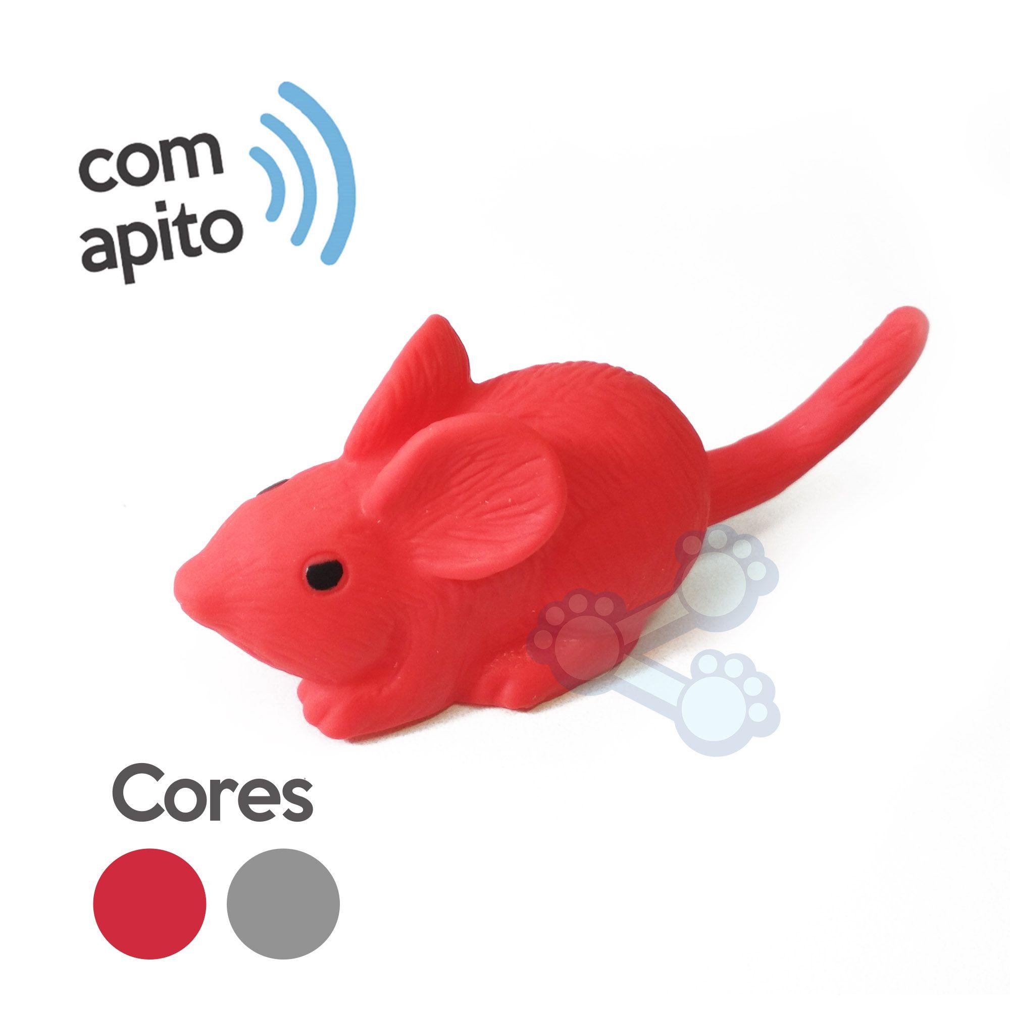 Brinquedo Ratinho de Borracha para Gatos