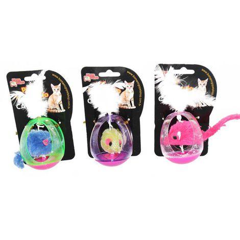 Brinquedo para Gatos - Ratinho Gaiola c/ Catnip