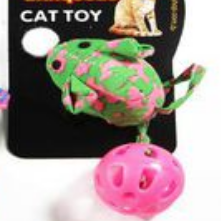Brinquedo para Gatos - Ratinho Rabo Bolinha c/ Catnip
