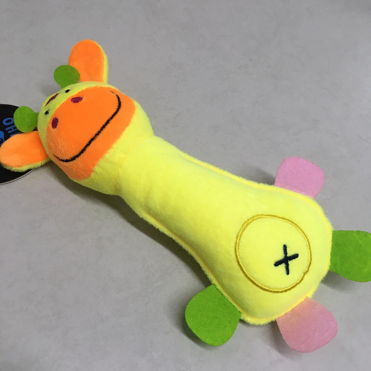 Brinquedo Pelúcia Animal Divertido para Cães e Gatos apito sonoro