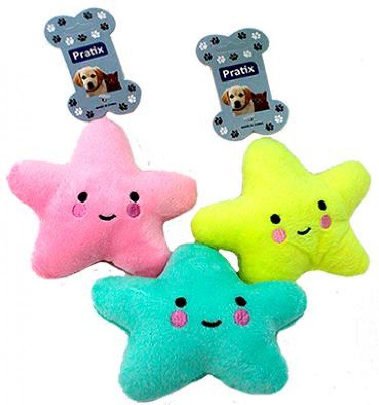 Brinquedo Pelúcia Estrela para Cães e Gatos apito sonoro