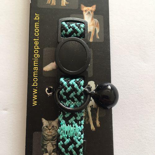 Coleira de Nylon Luxo Super Resistente Para Gatos