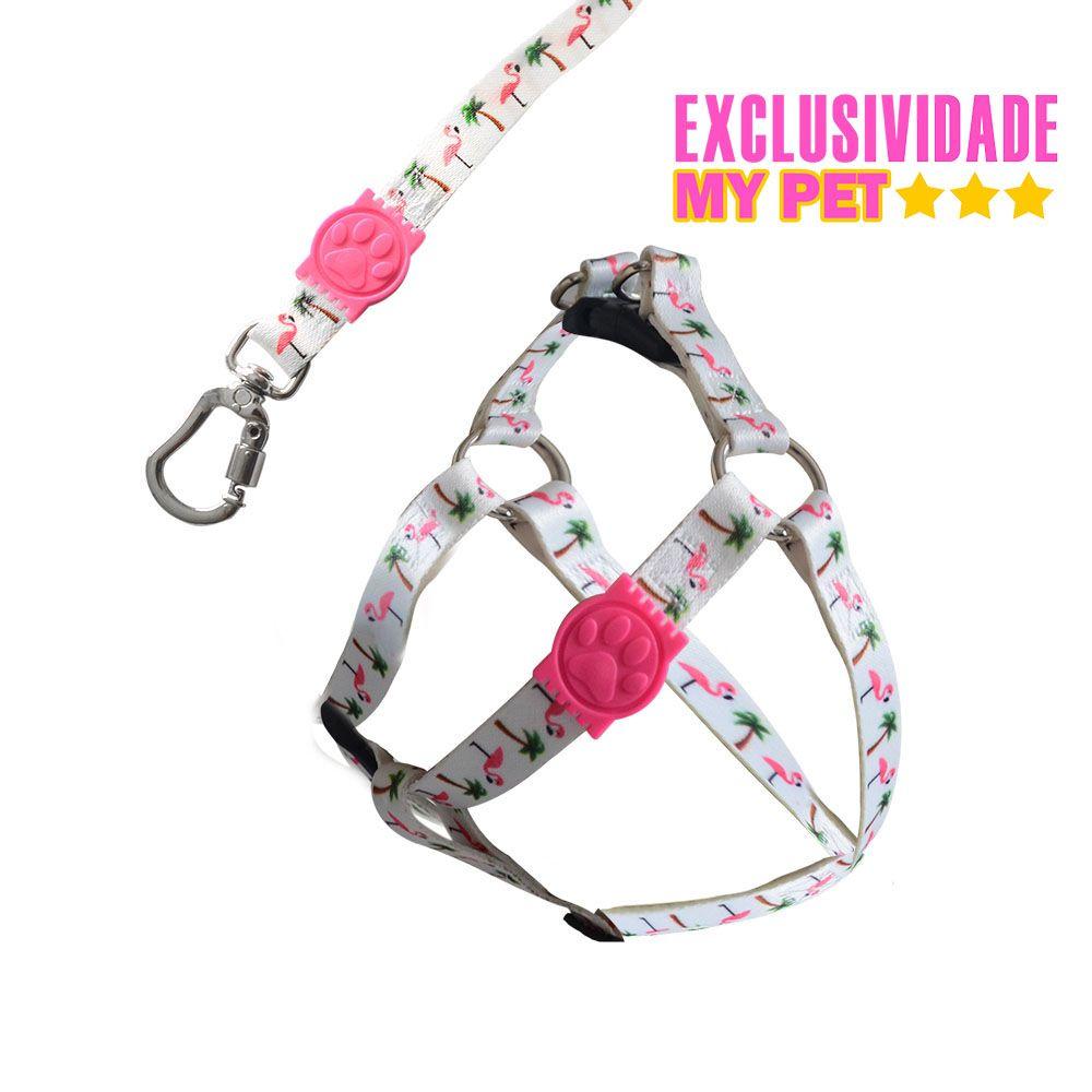 Conjunto Peitoral e Guia Premium 15mm p/ Cães