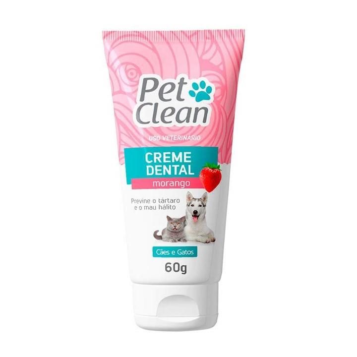 Creme Dental Pet Clean para Cães e Gatos 60gr