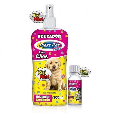 Educador Para Cães Xixi Não + Educador Xixi Sim - Plast Pet 500ml