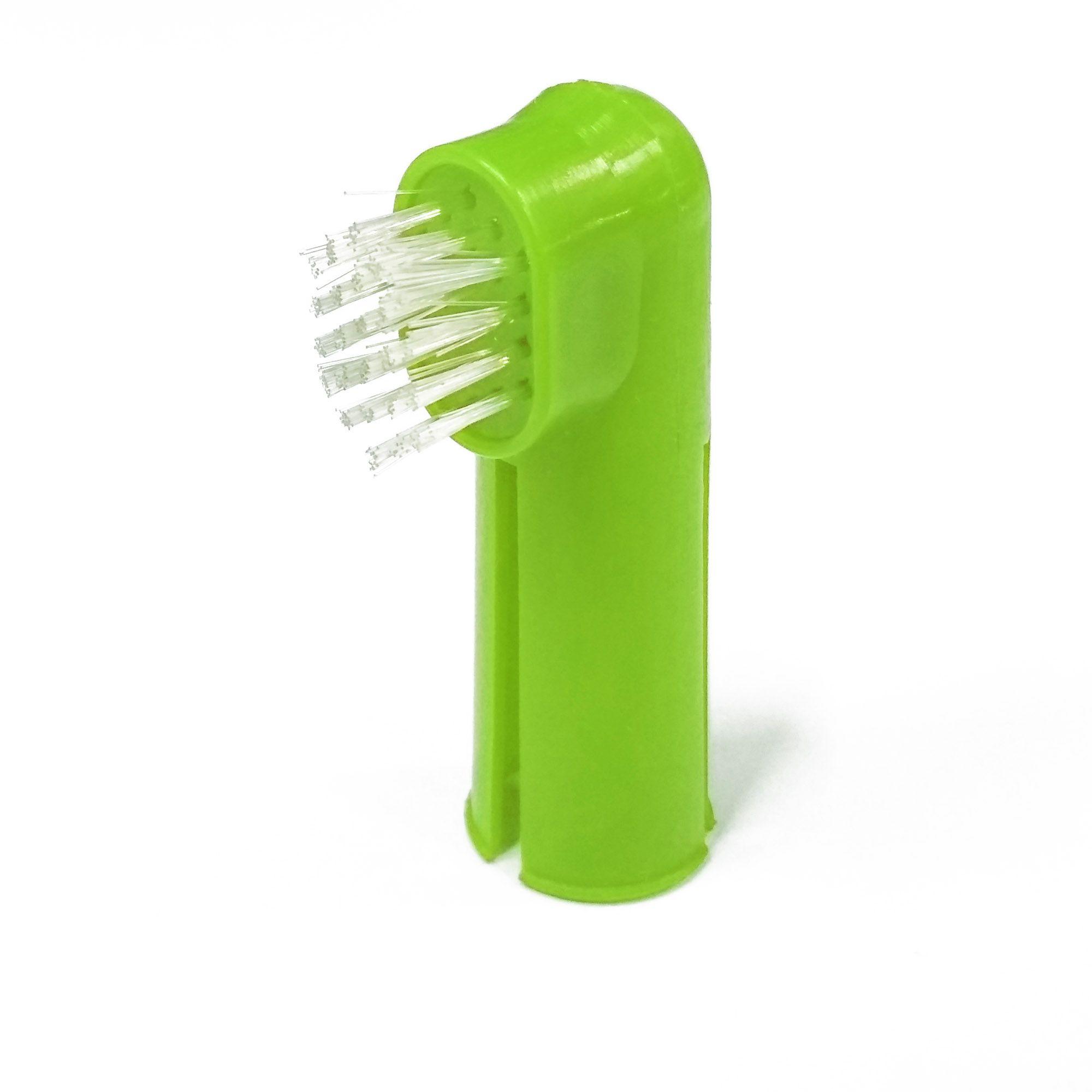 Escovas de Dente de Dedo para Cães e Gatos - coloridas
