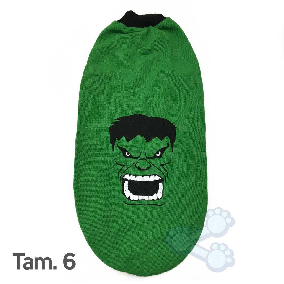 Fantasia p/ Cães Hulk Tam G