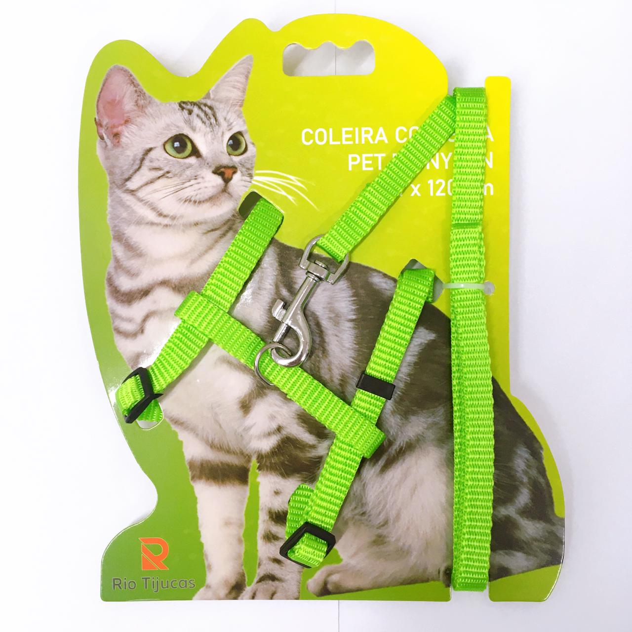 Guia e peitoral para gatos