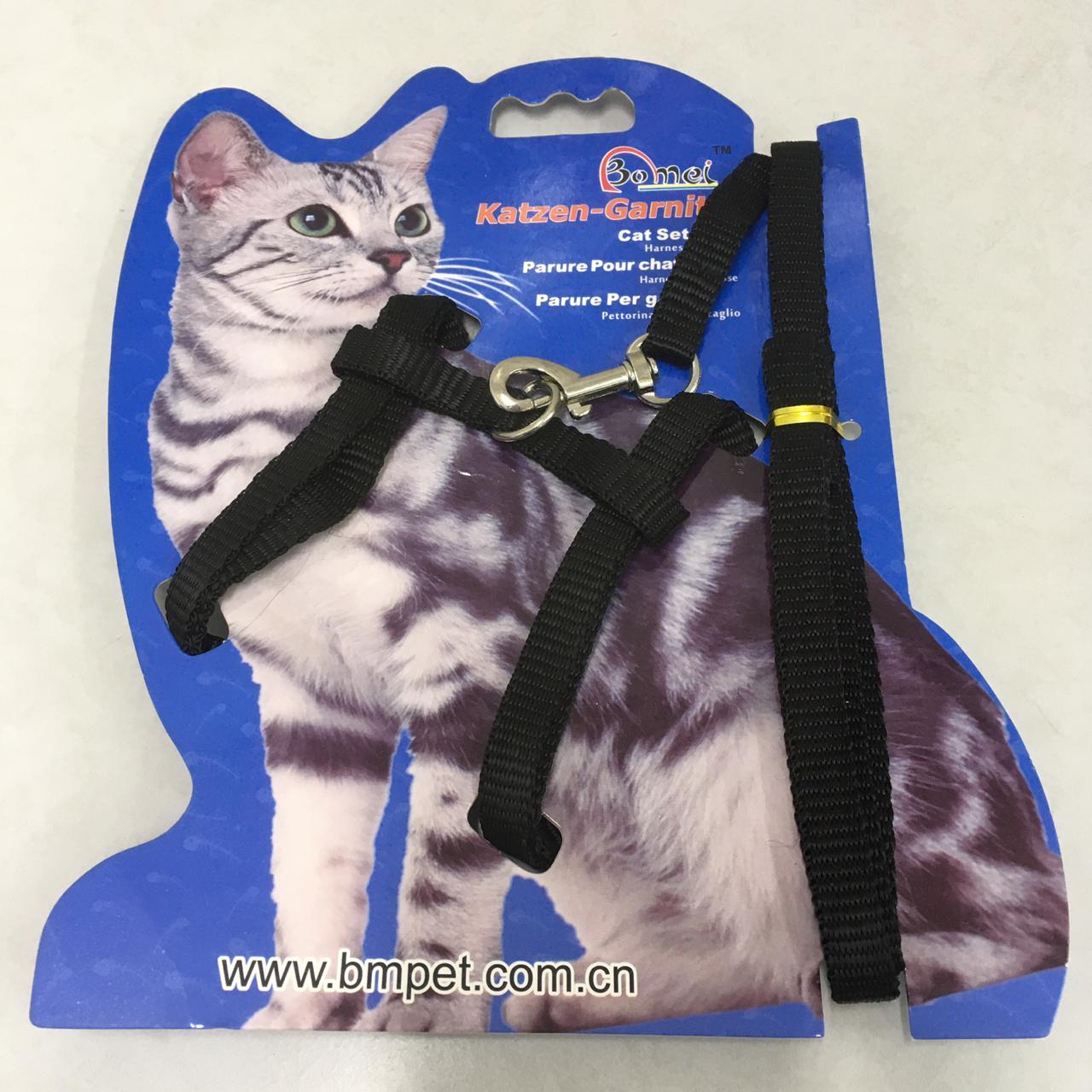 Guia e peitoral para gatos Bomei