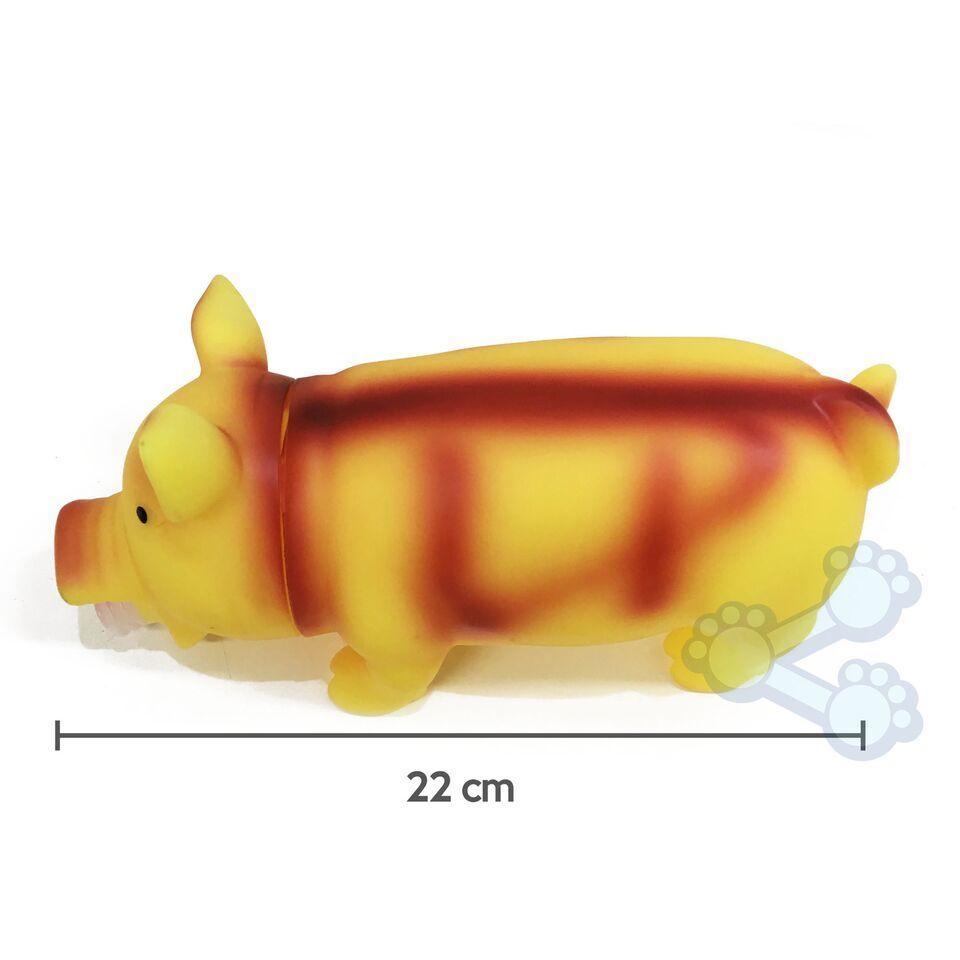 Brinquedo Mordedor para cães - Porco com Efeito Sonoro Especial