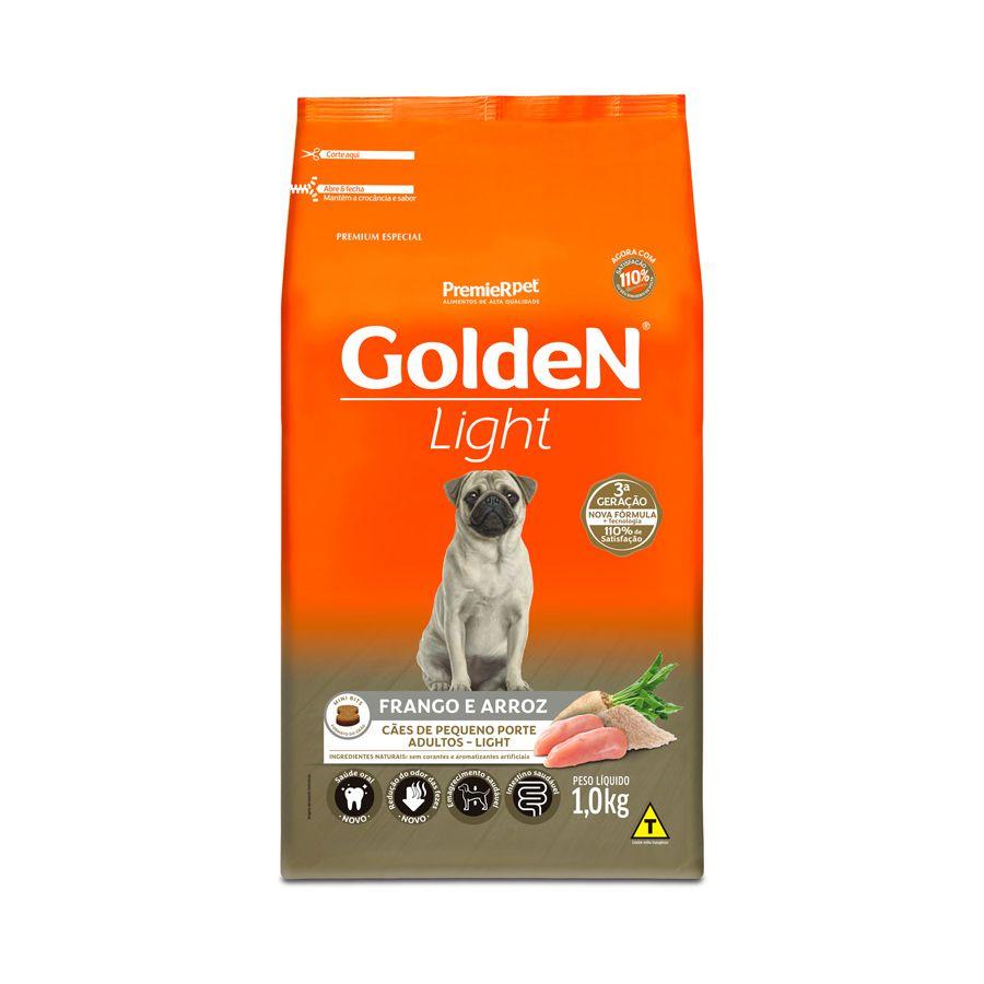 Ração Golden Fórmula Mini Bits Light para Cães Adultos de Pequeno Porte Sabor Frango e Arroz 1kg