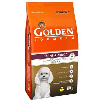 Ração Golden Fórmula Mini Bits Para Cães Adultos Pequeno Porte Sabor Carne e Arroz 1kg