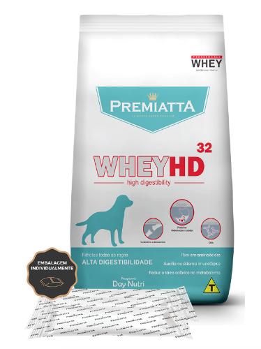 Ração Premiatta WheyHD 32 Alta Digestibilidade para Cães Filhotes de todas as raças 3Kg - 15pcts de 200g