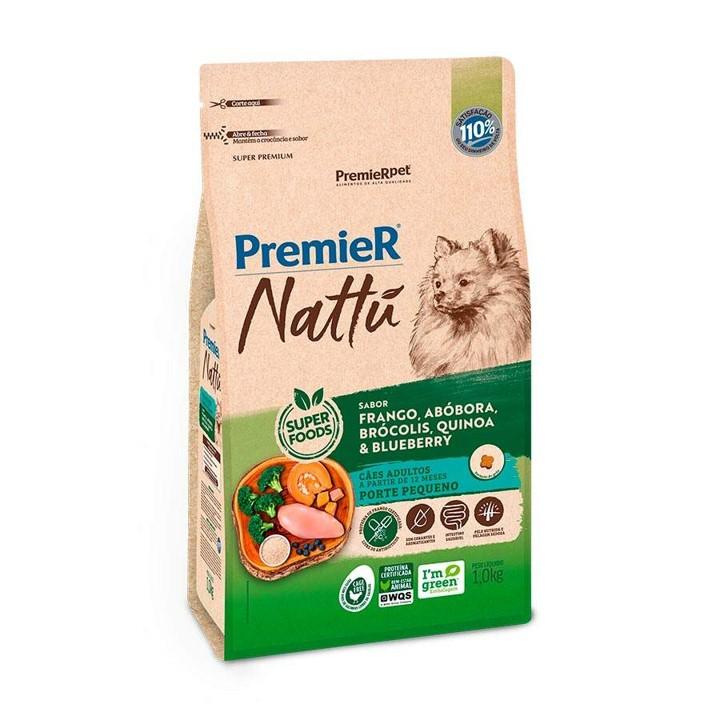 Ração Premier Nattu para Cães Adultos de Raças Pequenas Sabor Abóbora 1Kg