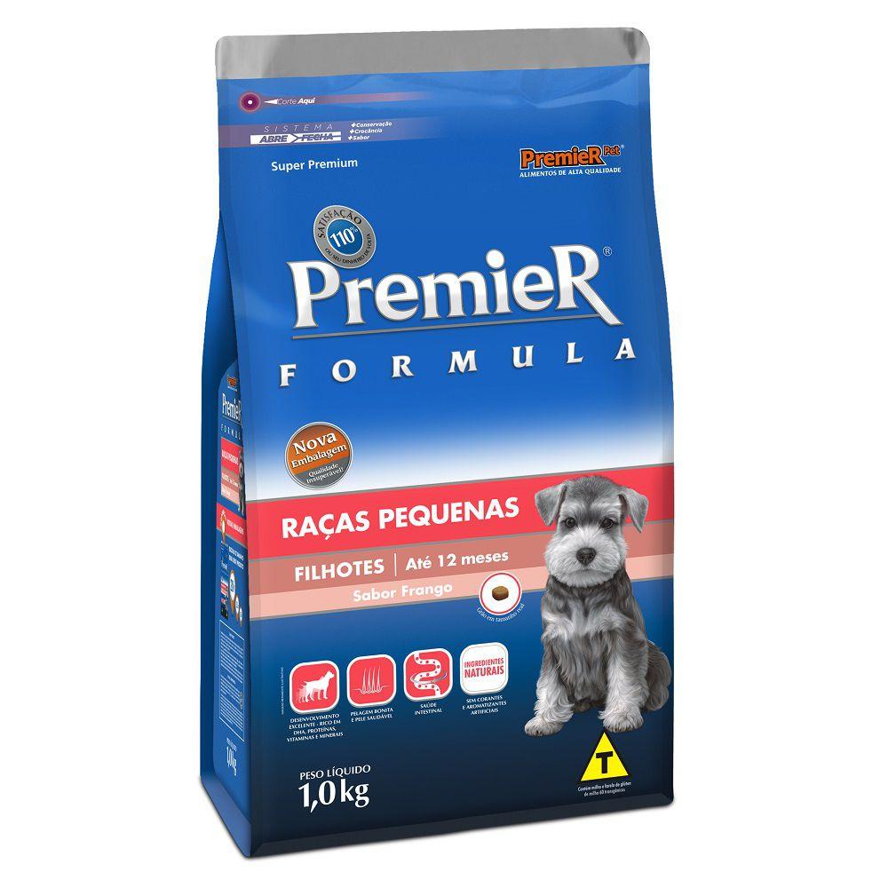 Ração Premier Pet Cães de Raças Pequenas Filhotes Sabor Frango 1KG