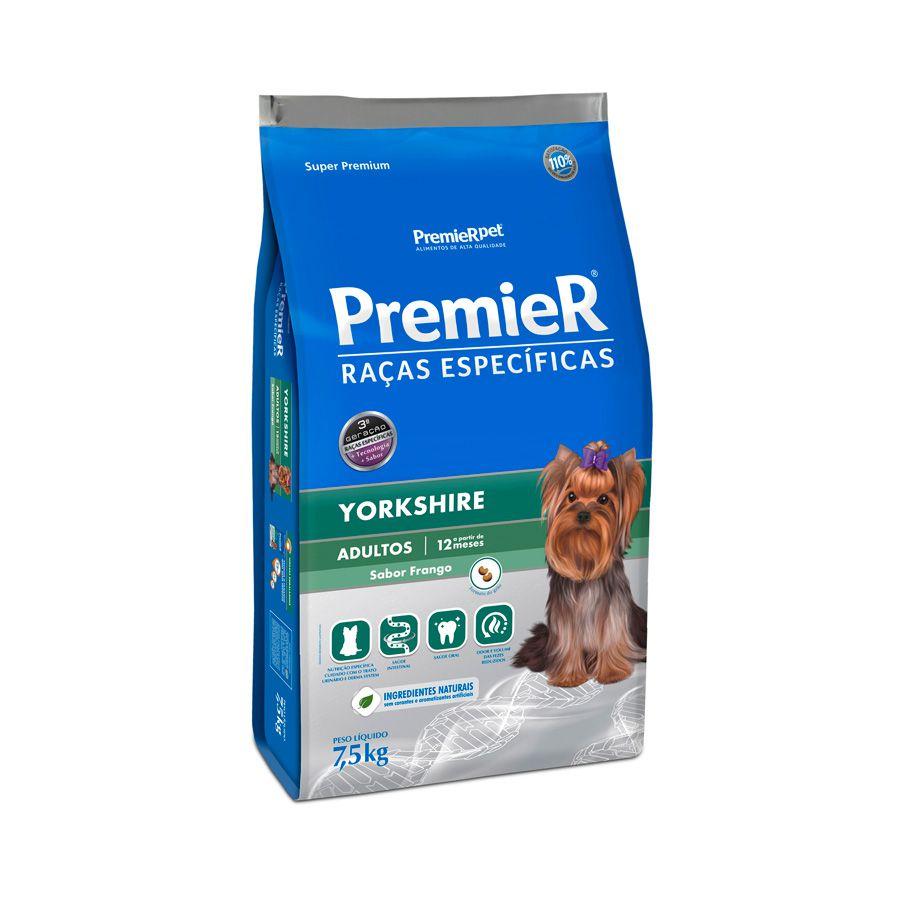 Ração Premier Pet Específicas Yorkshire Adultos Sabor Frango 1KG
