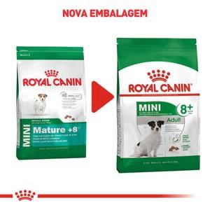Ração Royal Canin Mini Adult 8+ para Cães Adultos de Raças Pequenas com 8 Anos ou mais 1Kg