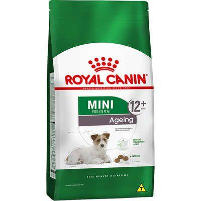 Ração Royal Canin Mini Ageing 12+ para Cães Idosos de Raças Pequenas com 12 Anos ou mais 1Kg