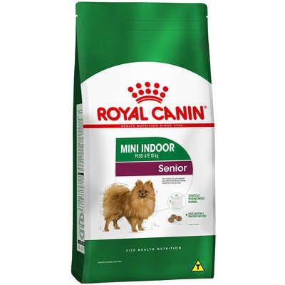 Ração Royal Canin Mini Indoor Senior para Cães de Raças Pequenas com 8 Anos ou mais 1Kg