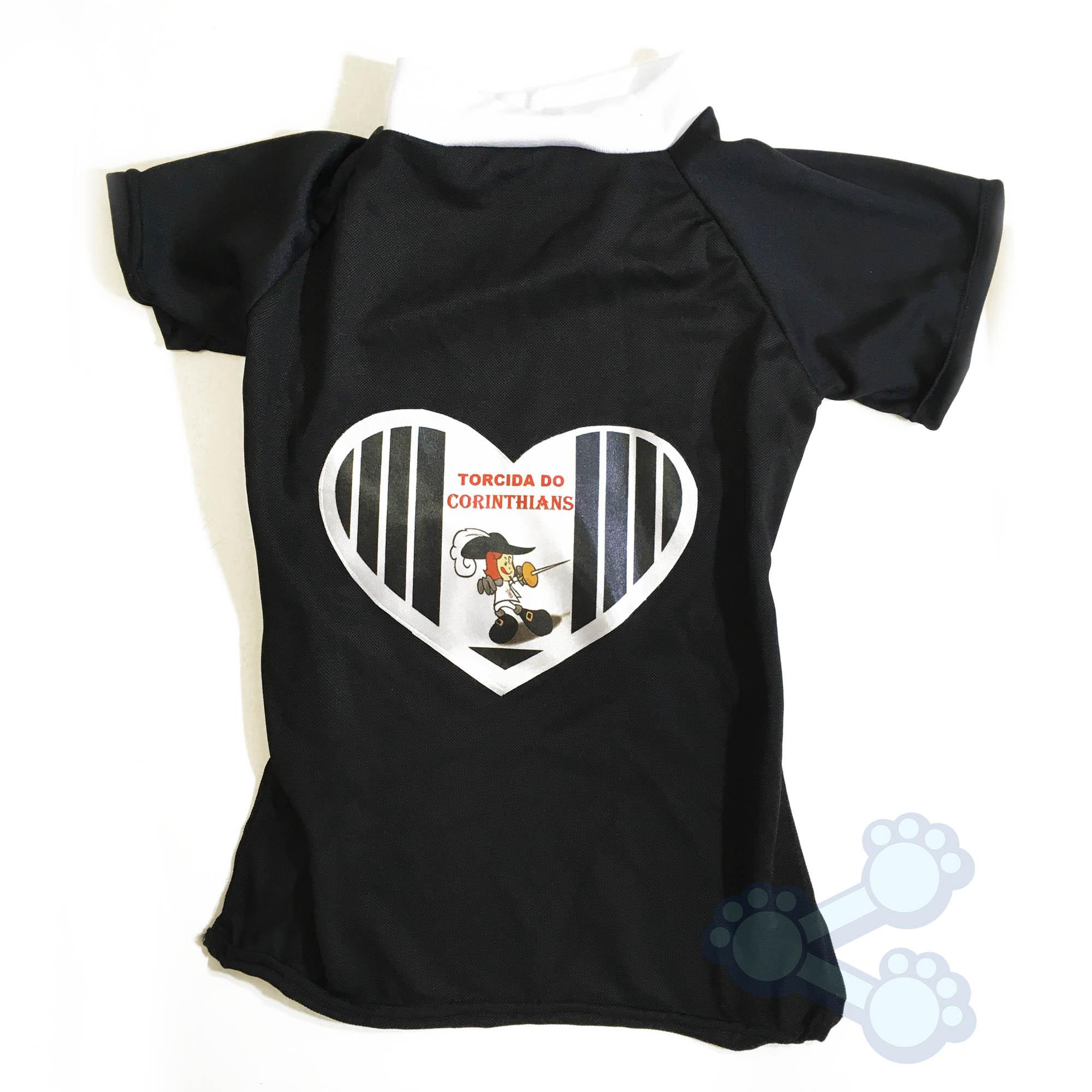Roupinha Para Cães Cachorro Camiseta do Corinthians