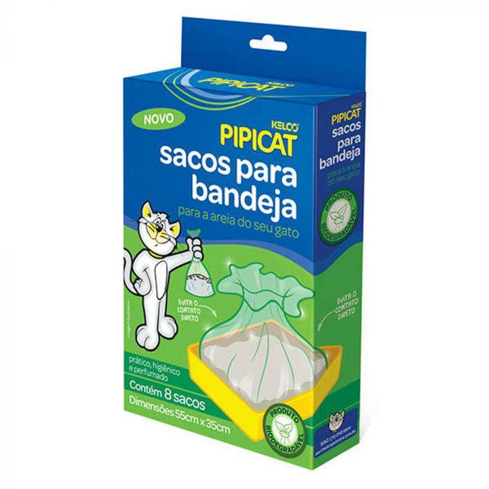 Sacos para Bandeja Sanitária para Gatos - Pipicat 8 unid.