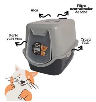Sanitário para Gatos Caixa de Areia Fechada Duracats