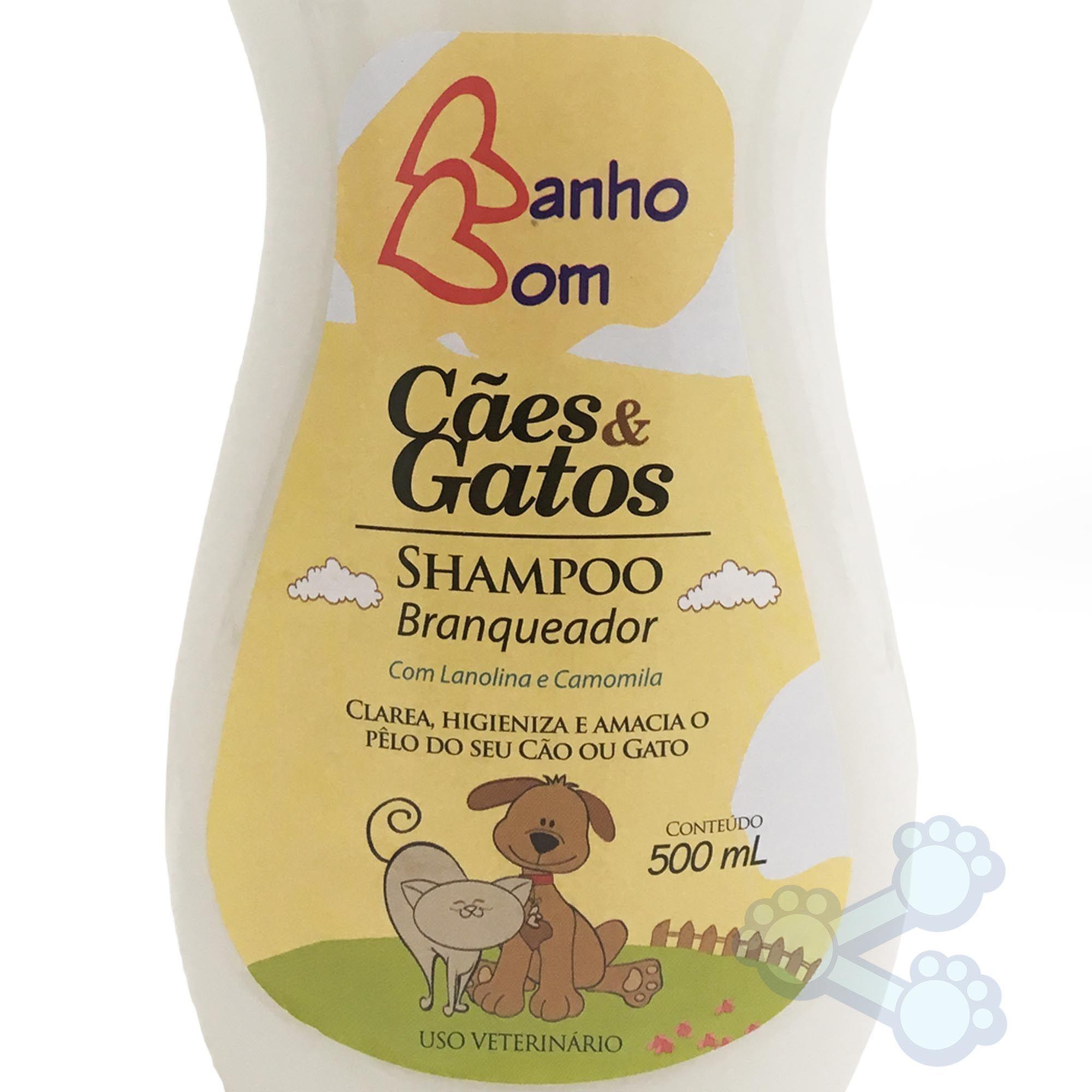 Shampoo Branqueador Banho Bom (500ml) Cães e Gatos