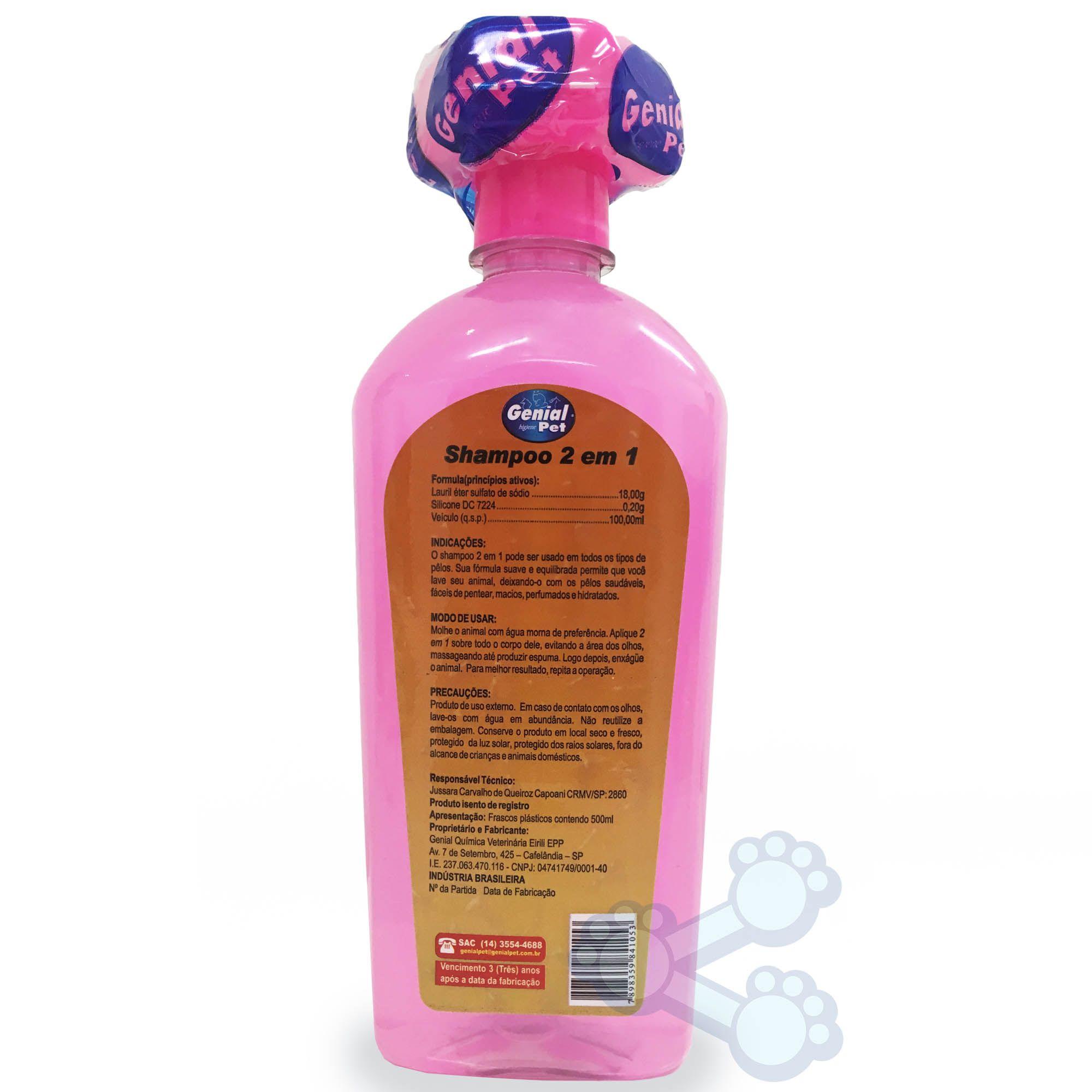 Shampoo e Condicionador Genial 2 em 1 (500ml)