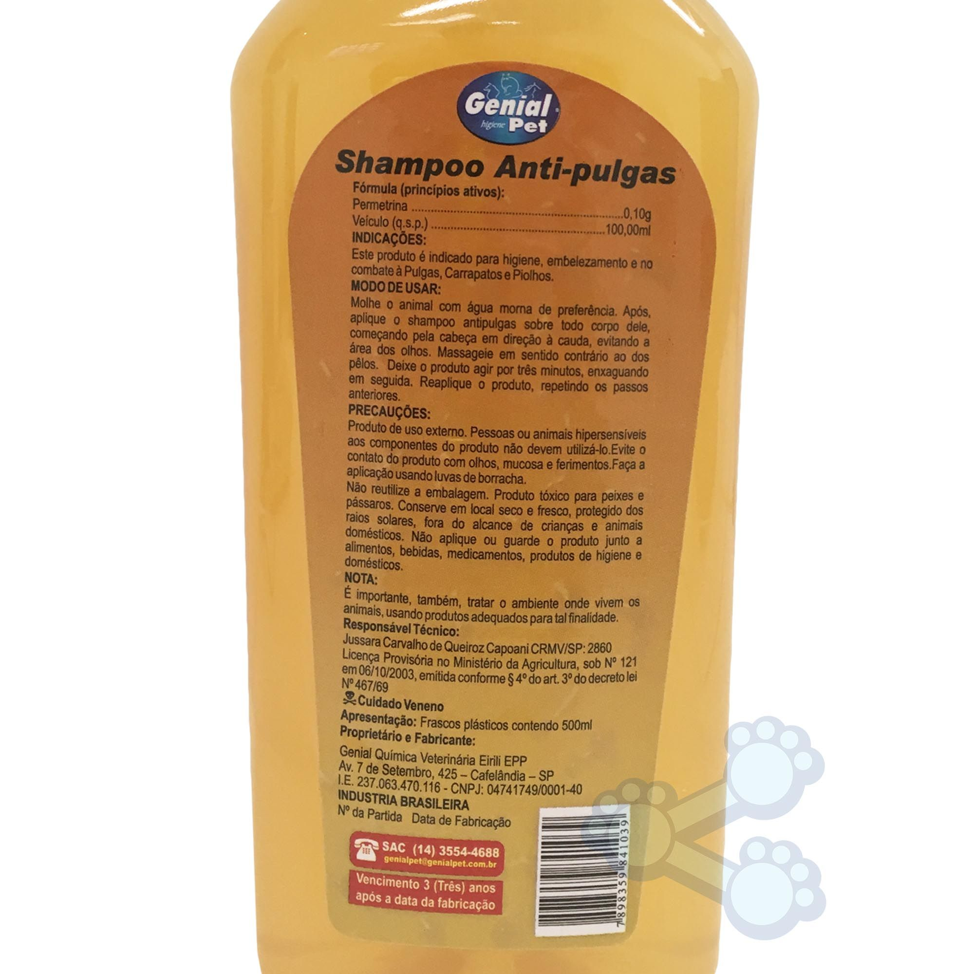 Shampoo Genial Pet Anti-Pulgas (500ml)
